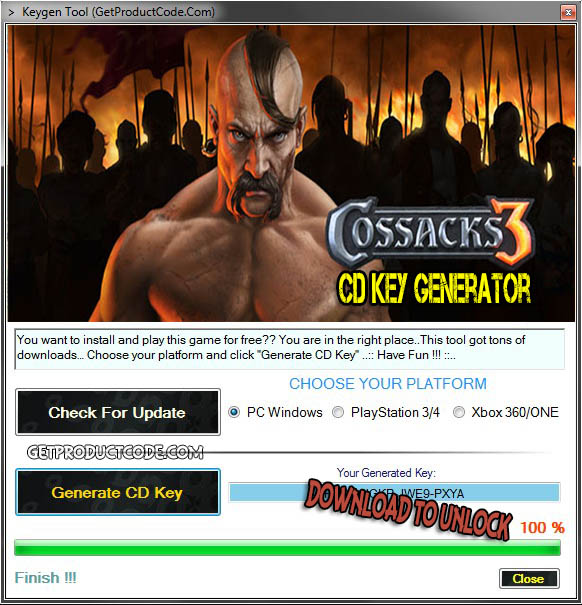 Cossacks 3 CD Key Generator Creator