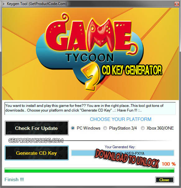 Game Tycoon 2 cd key giveaway
