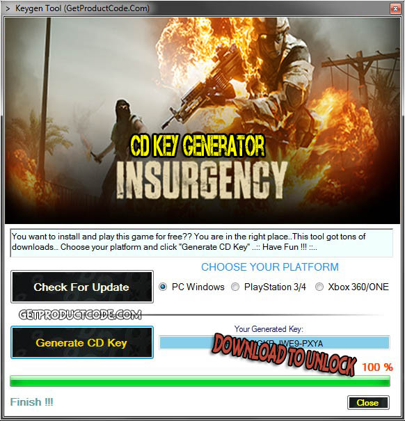 Insurgency cd key giveaway