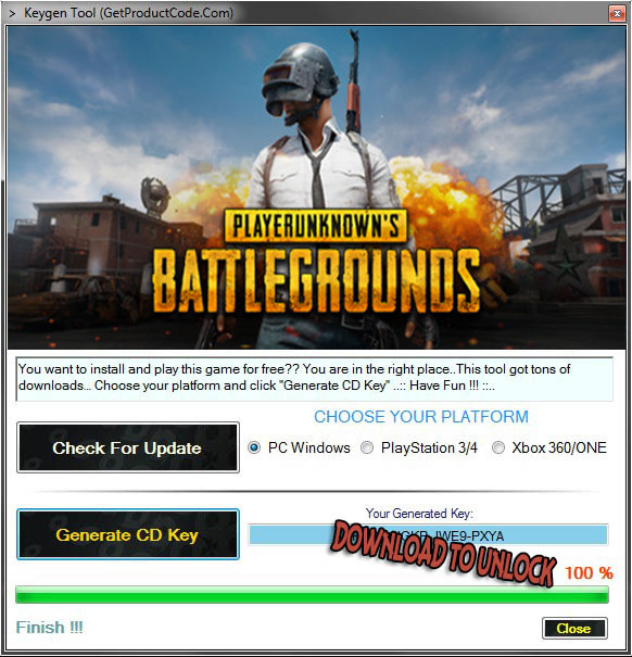 PUBG Key Generator Download Free
